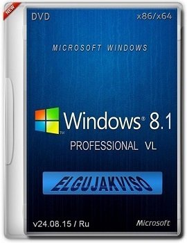 Windows 8.1 Pro (x86-x64) VL Elgujakviso Edition v24.08.15 (2015) [Rus]