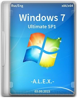Windows 7 Ultimate SP1 (x86-x64) Original by -A.L.E.X.- (esd + wim) (2015) [Rus/Eng]