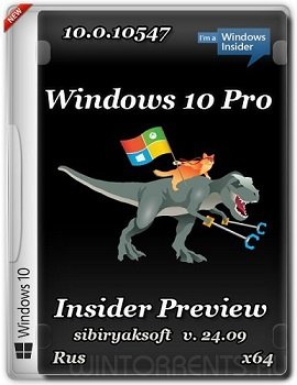Windows 10 Pro Insider Preview (x64) 10.0.10547 by sibiryaksoft v.24.09 (2015) [Rus]