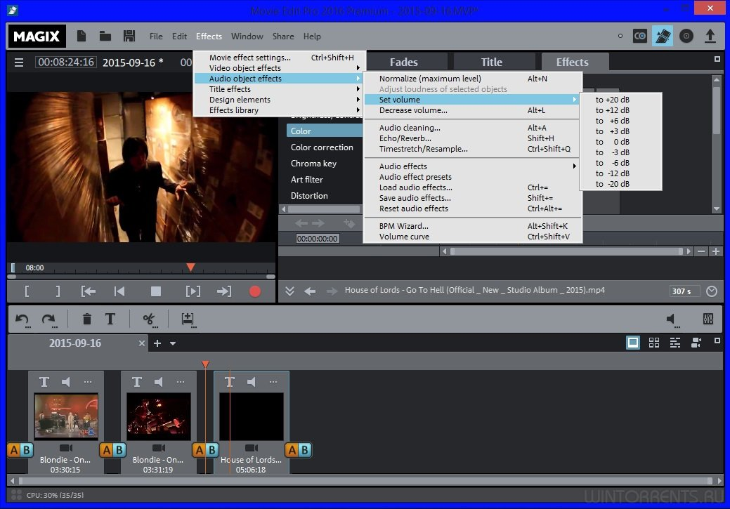 Movie editing site