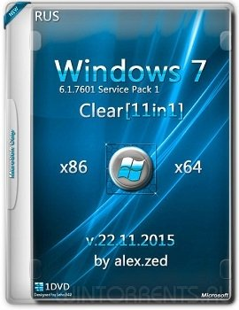 Windows 7 SP1 Clear 11в1 by alex.zed (x86-x64) [Ru]