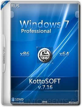 Windows 7 SP1 Professional (x86-x64) KottoSOFT v.7.16 (2016) [Rus]