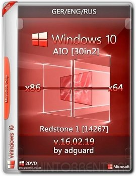 Windows 10 Redstone (x86-x64) 1_14267 AIO 30in2 adguard [Ger/Eng/Rus]