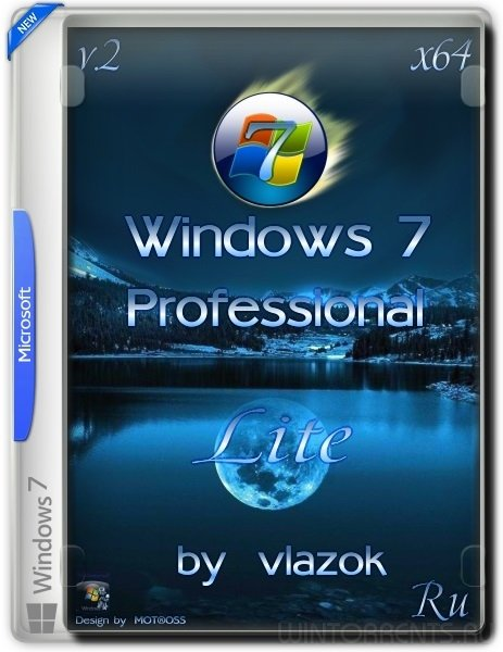 Windows 7 Professional (x64) vl Lite v.2 by vlazok (2016) [Rus]