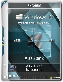 Windows 10 AIO 20in2 (x86-x64) Version 1709 [16299.15] adguard v17.10.11 (2017) [Eng/Rus]