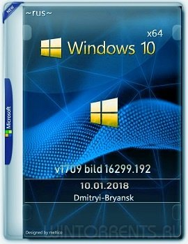 Windows 10 Pro (x64) 1709(16299.192) by Bryansk (2018) [Rus]