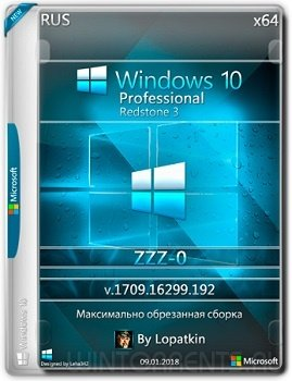 Windows 10 (x86-x64) 1709 Pro 16299.192 rs3 ZZZ-0 by Lopatkin (2018) [Rus]
