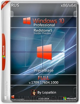Windows 10 Pro (x86-x64) 17604.1000 rs5 Prerelease FULL by Lopatkin (2018) [Rus]