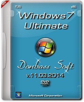 Windows 7 Ultimate x86 SP1 v.11.03.2014 DS (2014) Русский