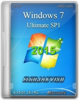 Windows 7 Ultimate SP1 (x86/x64) by Elgujakviso Edition v19.01.15 (2015) [Rus]