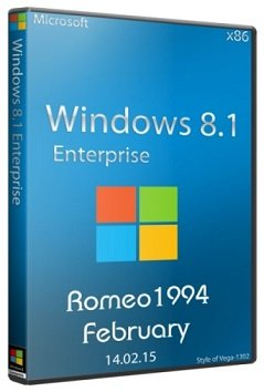 Windows 8.1 Enterprise (x86) Update For February by Romeo1994 (2015) [RUS]