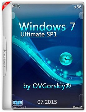 Windows 7 Ultimate Ru (x86) SP1 7DB by OVGorskiy® (v.07.2015) [RUS]