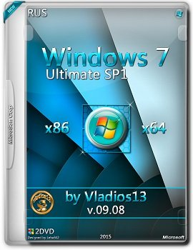 Windows 7 Ultimate SP1 (x86-x64) by vladios13 [v.09.08] [Rus]