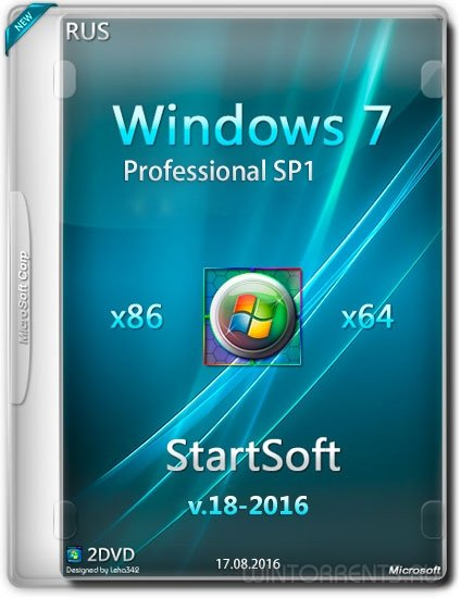 Windows 7 Professional SP1 StartSoft v.18 (x86-x64) (2016) [Rus]