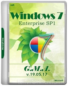 Windows 7 Enterprise SP1 (x64) by G.M.A. v.19.05.17 (2017) [Rus]