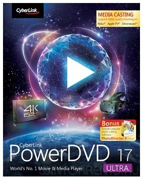 CyberLink PowerDVD Ultra 17.0.1808.60 RePack by qazwsxe (2017) [Eng/Rus]