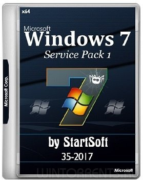 Windows 7 SP1 (x64) Release By StartSoft v.35 (2017) [Eng/Rus]