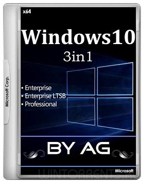 Windows 10 3in1 (x64) by AG 08.2017 [10.0.14393.1537 AutoActiv] (2017) [Rus]