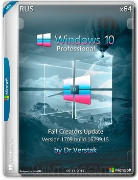 Wіndоws 10 Fall Professional (x64) Vеr.1709.16299.15 by Dr.Verstak (2017) [Rus]