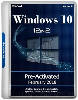 Windows 10 AIO 12in2 (x86-x64) RS3 1709.16299.248 Pre-Activated February 2018 by TeamOS (2018) [ML/Rus]