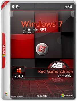 Windows 7 Ultimate SP1 (x64) RED GAME Editoin by Morhior (2018) [Rus]