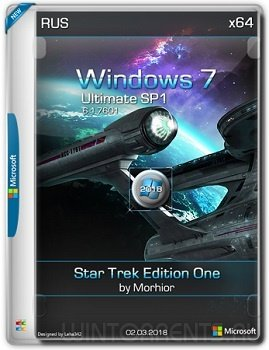 Windows 7 Ultimate SP1 (x64) Star Trek Edition One by Morhior (2018) [Rus]