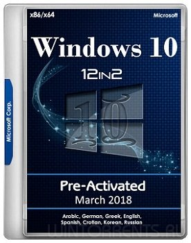 Windows 10 AIO 12in2 (x86-x64) RS3 1709.16299.251 Pre-Activated March 2018 by TeamOS (2018) [Ru/En]