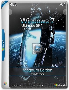 Windows 7 Ultimate SP1 (x64) Magnum Edition by Morhior 03.18 (2018) [Rus]