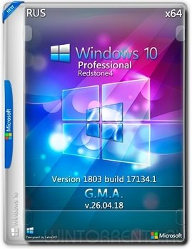 Windows 10 Professional (x64) RS4 by G.M.A. v.26.04.18