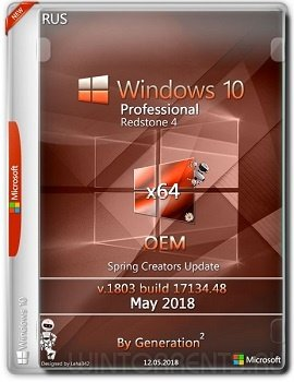 Windows 10 Pro RS4 (x64) v.1803 OEM May 2018 by Generation2