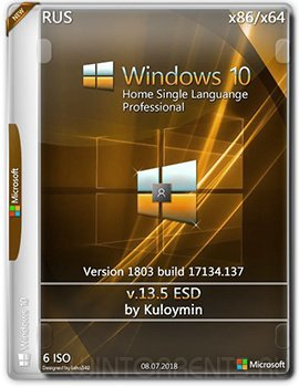 Windows 10 HomeSL/Pro (x86-x64) 1803 by kuloymin v13.5 (esd)