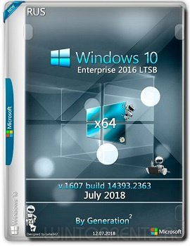 Windows 10 Enterprise (x64) LTSB 14393.2363 July 2018 by Generation2