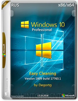 Windows 10 Pro (x86-x64) Easy Cleaning 1809 17763.1 by Degortg