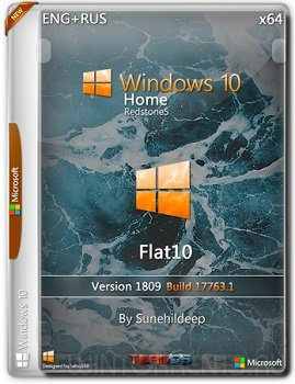 Windows 10 Home (x64) 1809 Flat10 By Sunehildeep