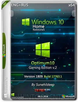 Windows 10 Home (x64) RS5 Optimum10 Gaming By Sunehildeep v.2