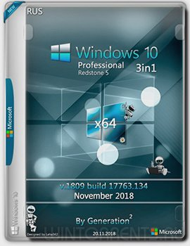 Windows 10 Pro 3in1 (x64) RS5 v.1809 OEM Nov 2018 by Generation2