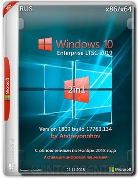 Windows 10 Enterprise LTSC (x86-x64) [2in1] v.1809.17763.134 by Andreyonohov