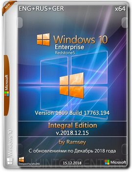 Windows 10 Enterprise (x64) 1809 Integral Editionby Ramsey v.2018.12.15