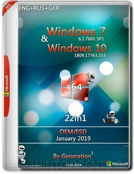 Windows 7 & 10 22in1 (x64) OEM / ESD Jan 2019 by Generation2