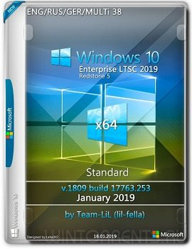 Windows 10 Enterprise LTSC (x64) v.1809 Standard Jan 2019 Team-lil