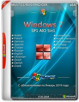 Windows 7 AIO 5in1 (x64) Jan2019 by TEAM OS