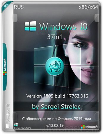 Windows 10 37in1 (x86-x64) 1809.17763.316 by SergeiStrelec v13.02.19
