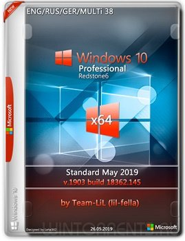 Windows 10 Pro (x64) v.1903.18362.145 Standard May 2019 Team-LiL